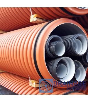 Труба 800 мм гофрированная канализационная, SN8