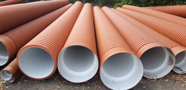 Трубы гофрированные канализационные