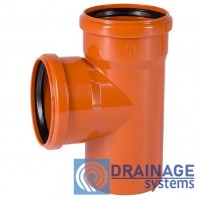 Тройник 250/110/90° для наружной ПВХ канализации