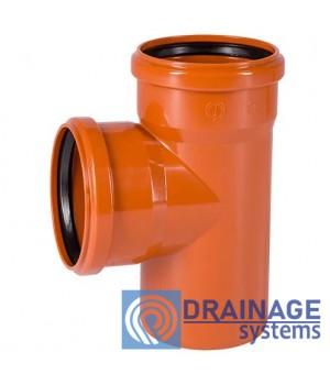Тройник 110/110/90° для наружной ПВХ канализации