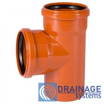 Тройник 160/160/90° для наружной ПВХ канализации