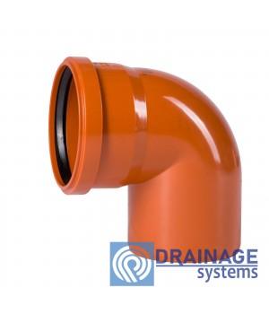 Колено 110х90° для наружной ПВХ канализации