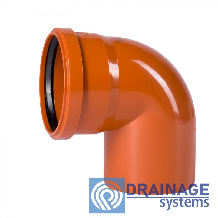 Колено 315х90° для наружной ПВХ канализации