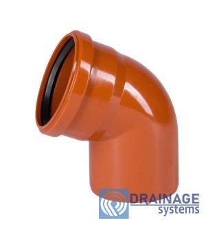 Колено 110х30° для наружной ПВХ канализации