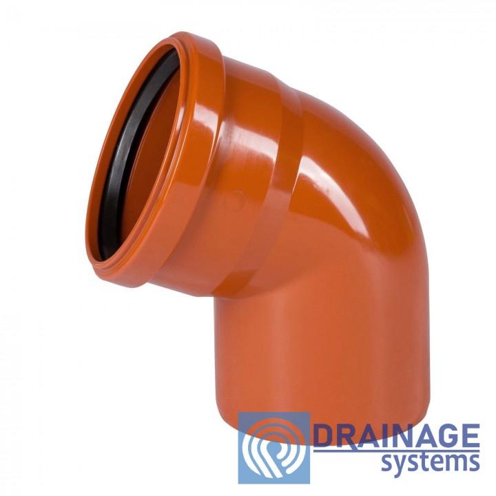 Колено 400х15° для наружной ПВХ канализации