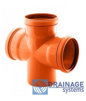Крестовина 160/160 для наружной ПВХ канализации