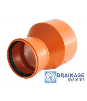 Редукция 160/110 для наружной ПВХ канализации