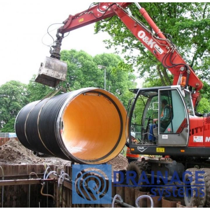 Труба пластиковая 1000/2000 мм большого диамера для колодца