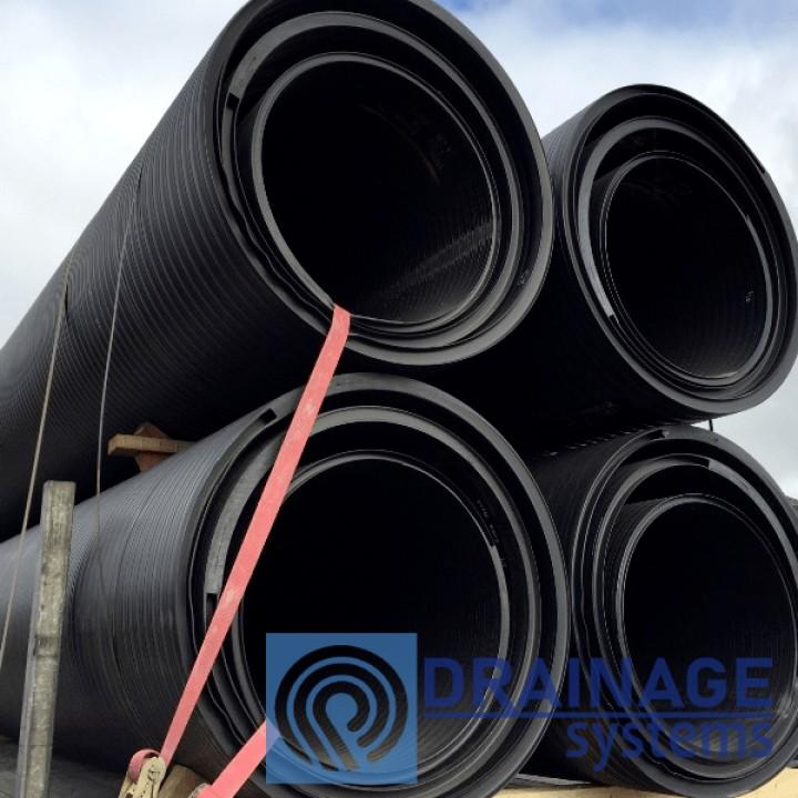 Труба пластиковая 1200/1000 мм большого диамера для колодца