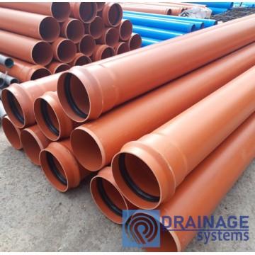 Труба ПВХ 250х6,2х6000 мм пластиковая канализационная