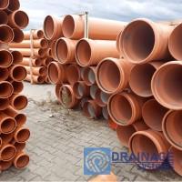 Труба ПВХ 400х7,7х3000 мм пластиковая канализационная