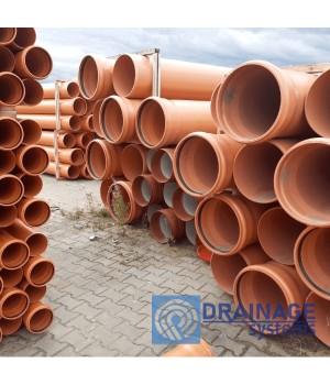 Труба ПВХ 400х7,7х2000 мм пластиковая канализационная