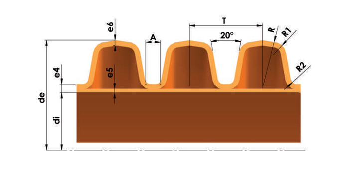 Замеры гофрированных канализационных труб